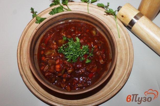 фото рецепта: Томатная подлива с овощами и шампиньонами