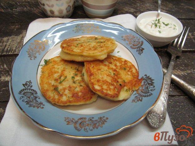 фото рецепта: Картофельные оладьи с начинкой