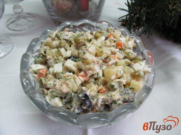 фото рецепта: Овощной салат с куриным мясом