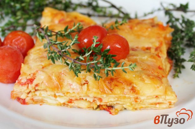 фото рецепта: Лазанья 4 сыра