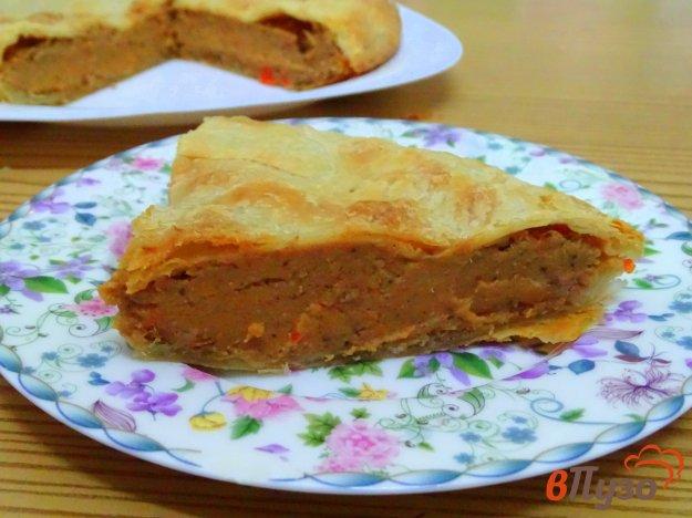 фото рецепта: Пирог из универсального теста с фасолево-мясной начинкой