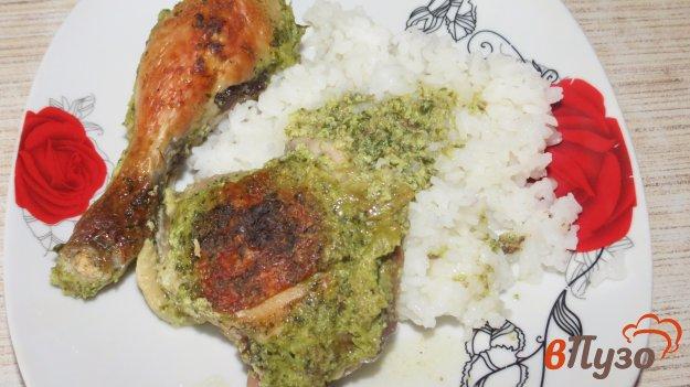 фото рецепта: Курица в зеленом соусе