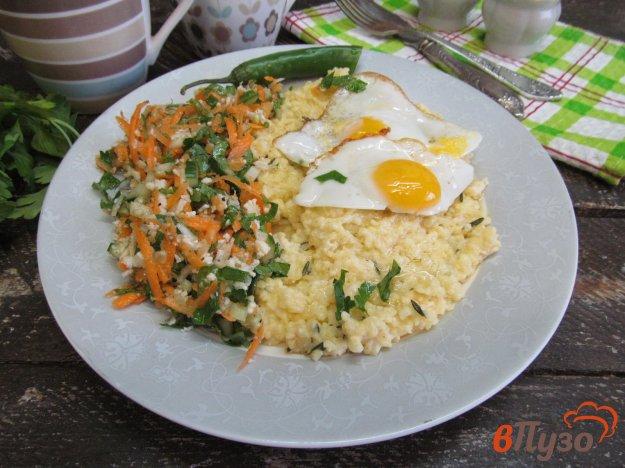 фото рецепта: Пшенная каша с овощной сальсой