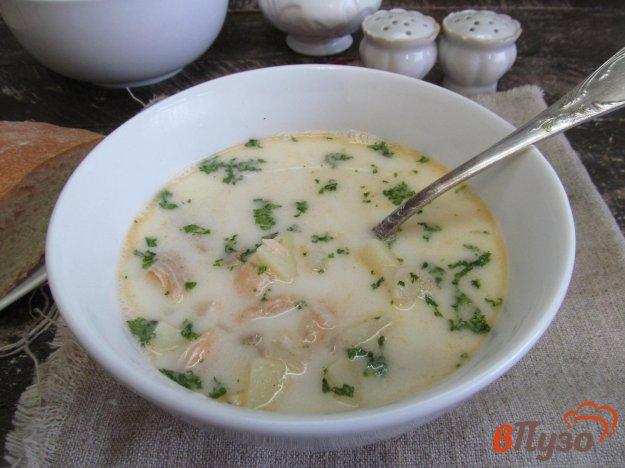 фото рецепта: Сливочный суп с лососем