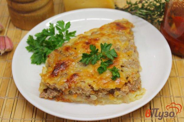 фото рецепта: Картофельный пирог с мясной начинкой