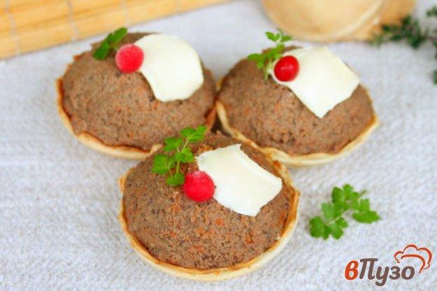 фото рецепта: Печеночный паштет в тарталетках