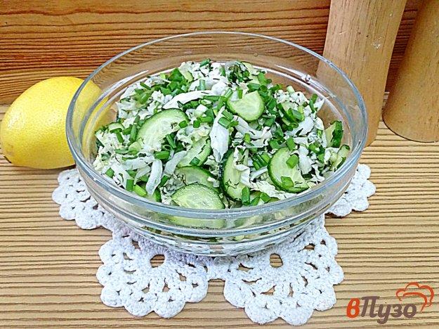 Салат из пекинской капусты и огурца