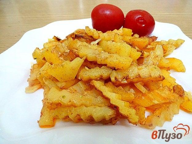 Картофель жареный с паприкой и чесноком