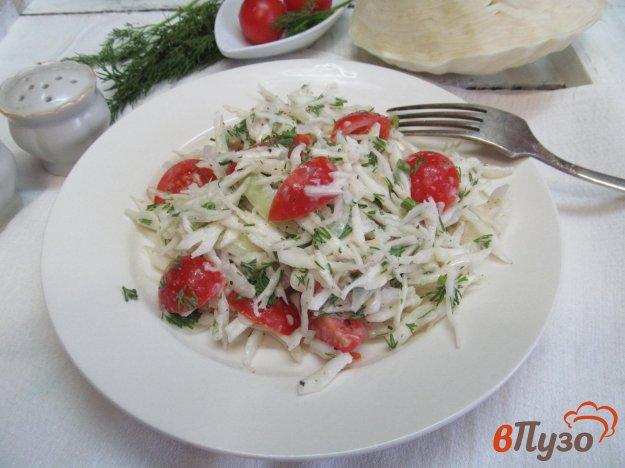 фото рецепта: Салат из капусты под соусом из хрена
