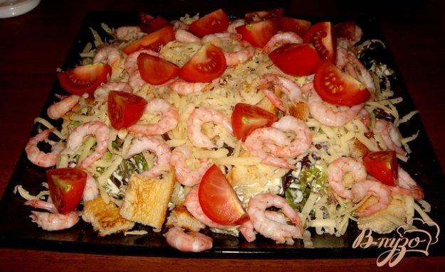 Рецепт Воздушный салат с креветками