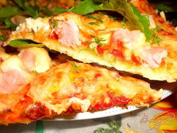 Пицца с ветчиной рецепт с фото