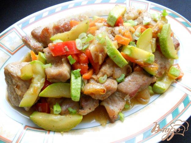 фото рецепта: Свинина жаренная с овощами