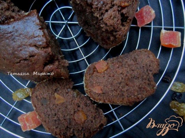 Рецепт Шоколадный кекс с имбирем и цукатами папайи