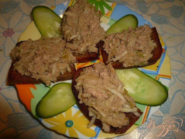 Рецепт Закусочные бутерброды с печенью трески