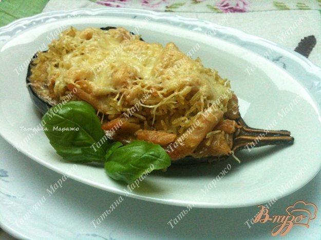 Рецепт Баклажаны с курицей и рисом