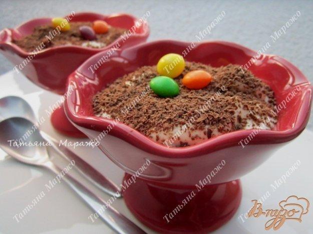 Рецепт Десерт с кусочками ананаса и кремом из сыра Маскарпоне