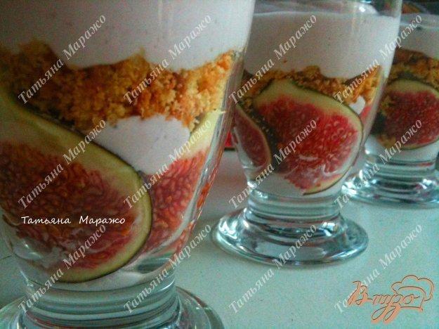 Рецепт Творожный десерт с инжиром