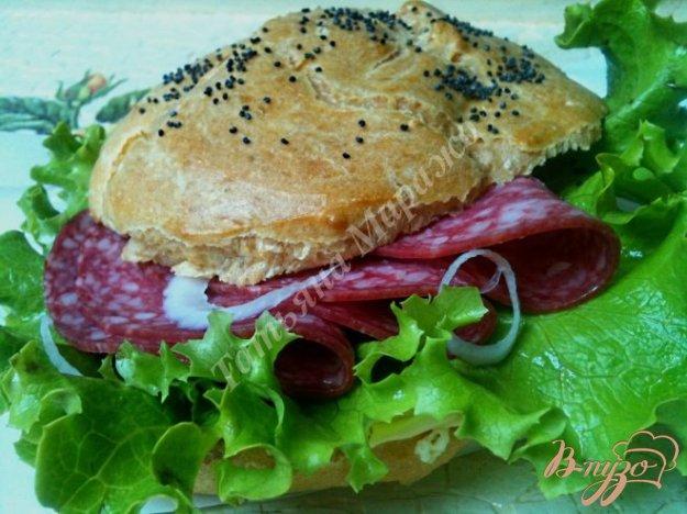 фото рецепта: Сендвич с булочкой из заварного теста