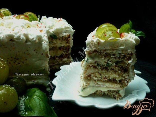 Рецепт Закусочный тортик с сырной начинкой