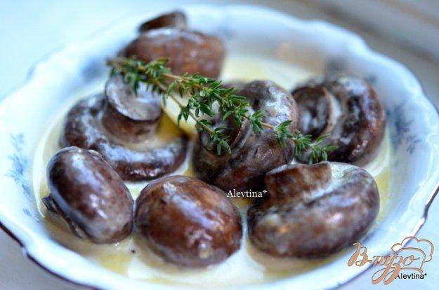 Рецепт Грибочки в чесночном соусе
