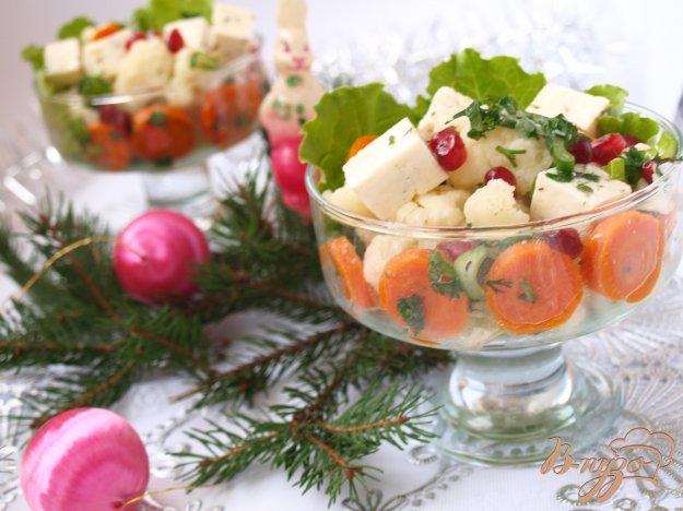 Рецепт Цветная капуста с брынзой и морковью