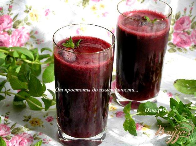 Рецепт Морс из черной смородины с мятой и коричневым сахаром