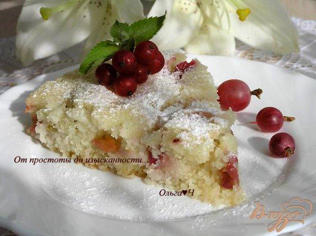 Рецепт Пирог с крыжовником (в мультиварке)
