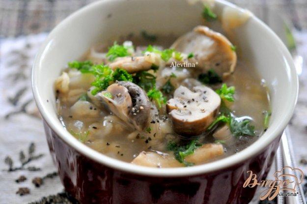 Рецепт Грибной суп с шиитаке и шампиньонами Белла