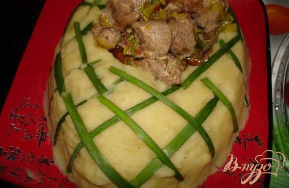 Рецепт Картофельный башмак с имбирным мясом