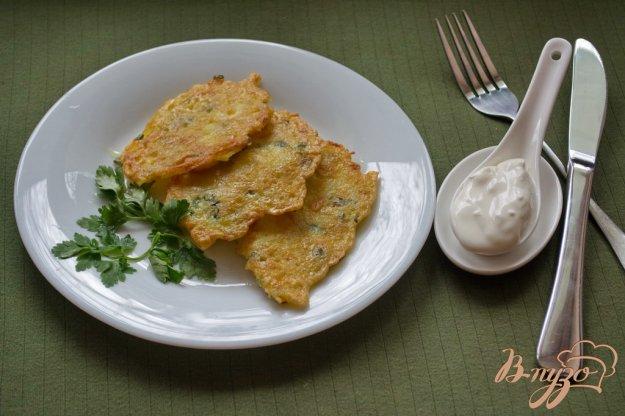Рецепт Драники с зеленым луком