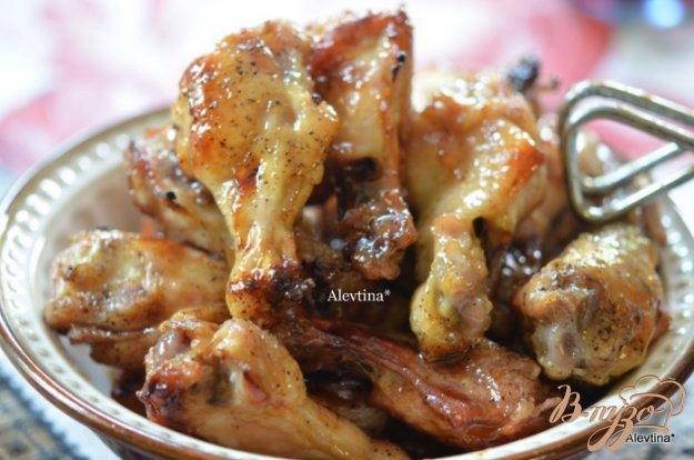 Рецепт Куриные крылышки с коричневым маслом и медом
