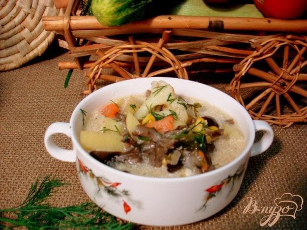 фото рецепта: Суп из опят, рыжиков и цветной капусты