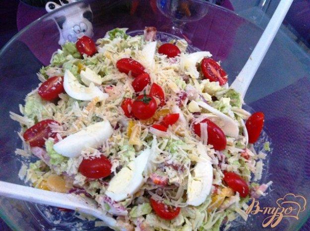 Рецепт Салат мясной с пекинской капустой и овощами
