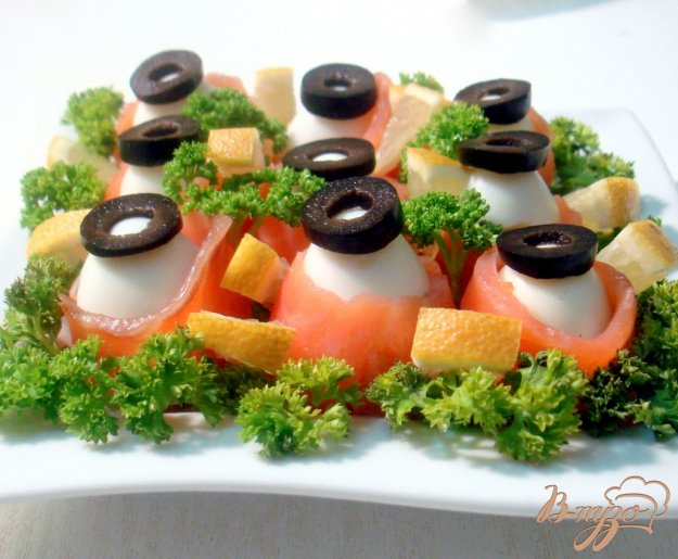 Рецепт Закуска из перепелиных яиц