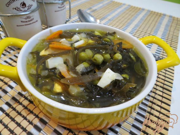 фото рецепта: Суп с морской капустой
