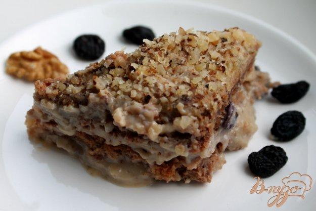 фото рецепта: Ореховый торт с заварным кремом