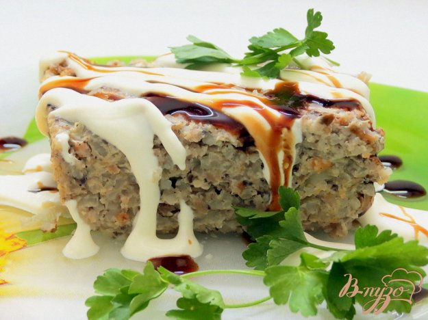 фото рецепта: Запеканка мясо грибная
