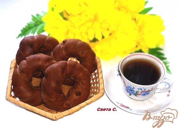 фото рецепта: Кофейно-шоколадные бублики с изюмом