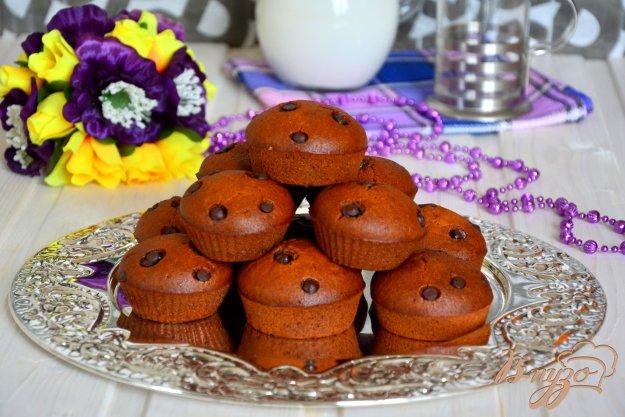 фото рецепта: Постные медовые кексы с шоколадными каплями