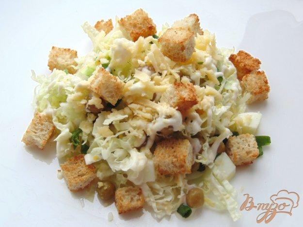 Пекинская капуста салат с сухариками рецепт с 2