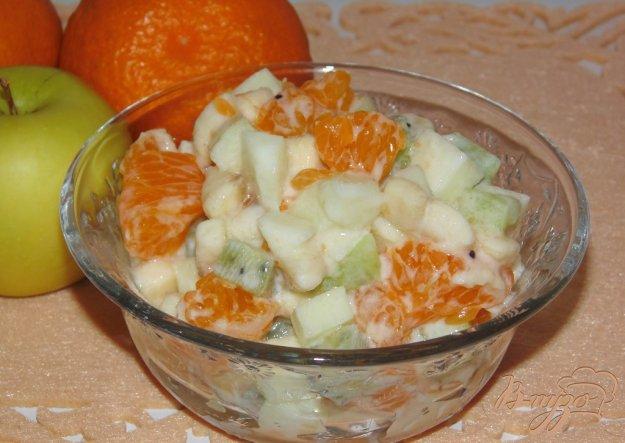 Фруктовый салат рецепт с йогуртом простой рецепт с