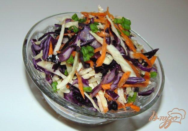 фото рецепта: Салат из двух видов капусты