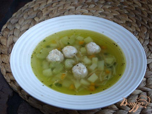 фото рецепта: Суп с фрикадельками и сельдереем