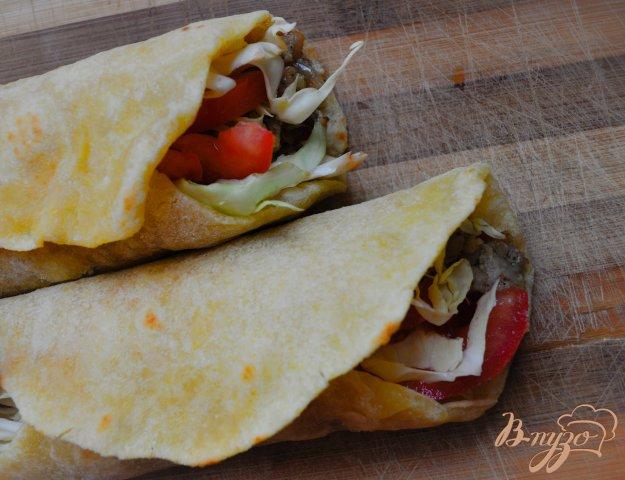 фото рецепта: Домашнее буррито с фаршем