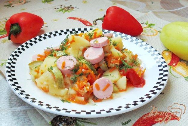 Кабачки сосиски с фото