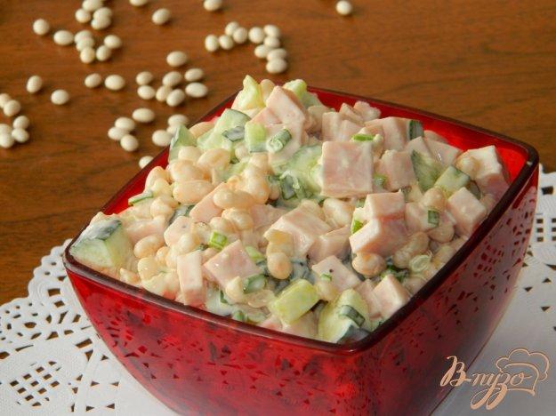 фото рецепта: Салат из фасоли с ветчиной