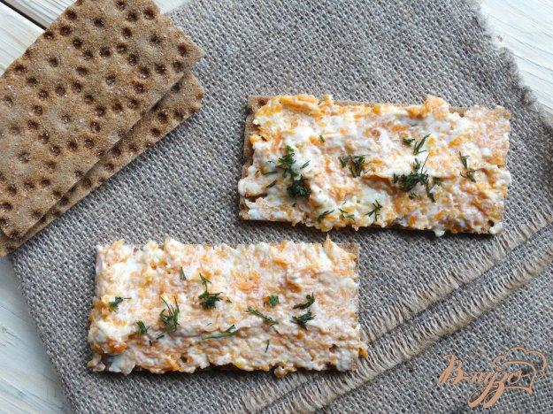 фото рецепта: Морковно-сырная бутербродная намазка