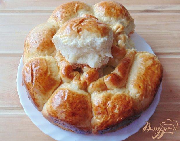 фото рецепта: Пирог дрожжевой с заварным кремом