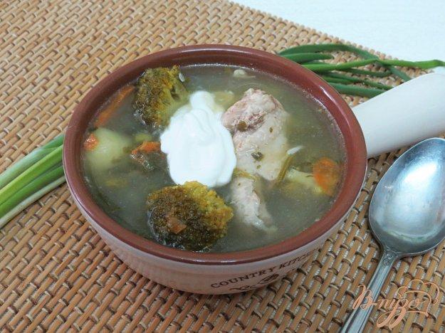 фото рецепта: Витаминный зелёный суп