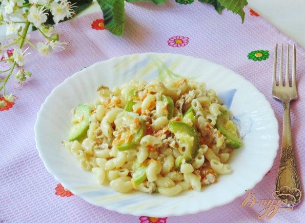 фото рецепта: Паста с кабачками и мясом в сливках